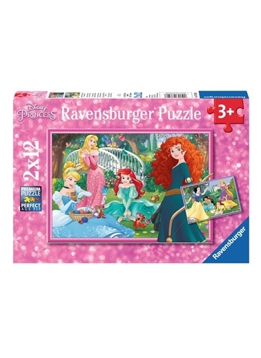 Ravensburger Puzzle 2x12 Parça WD Princess 76208 Renkli